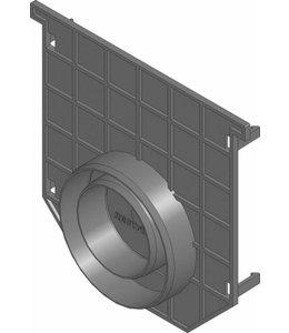 Hauraton Eindplaat dicht Recyfix 150 type 01. PE/PP met uitloopmogelijkheid 75/110mm