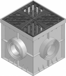 Hauraton Afwateringsput Recyfix Point 30/30, gietijzeren sterdesignrooster