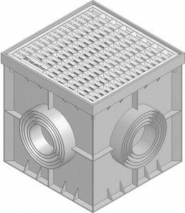 Hauraton Afwateringsput Recyfix Point 30/30, verzinktstalen mazenrooster