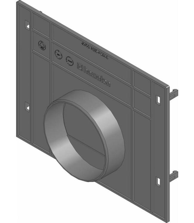 Hauraton Eindplaat dicht Recyfix Standaard 200 type 010. PE/PP met uitloopmogelijkheid 110mm