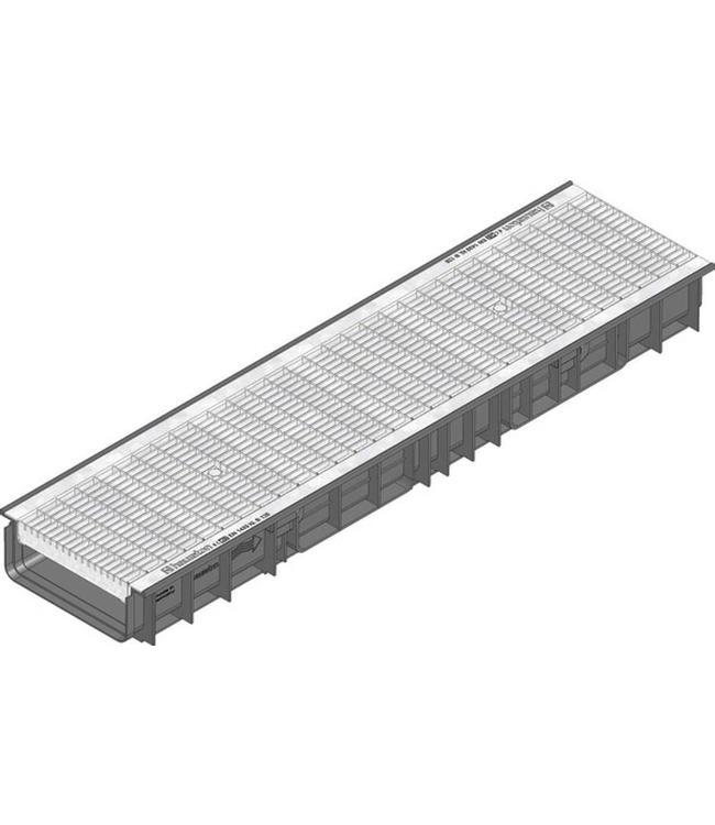 Hauraton Afvoergoot Recyfix Standaard 200 type 100, l=1m, verzinktstalen mazenrooster