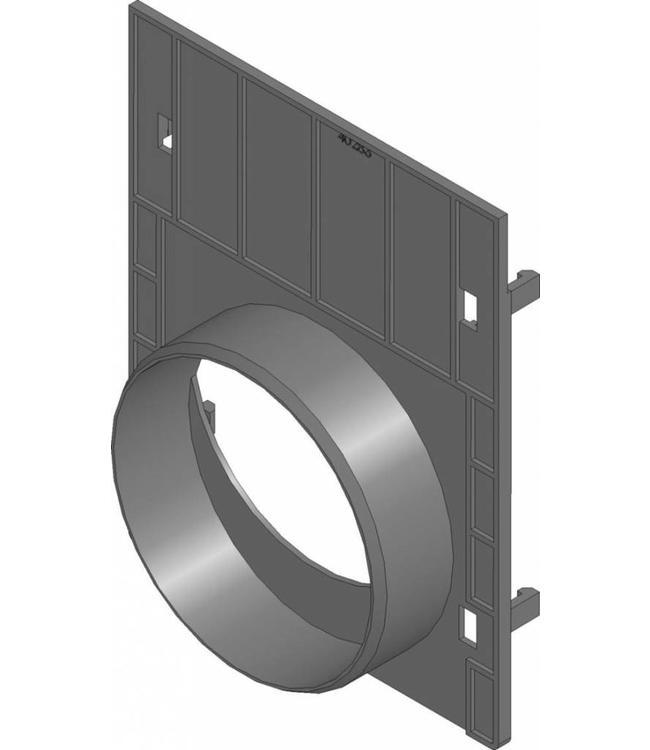 Hauraton Eindplaat + afvoer Recyfix 100 type 010. PE/PP met uitloopmogelijkheid 110mm