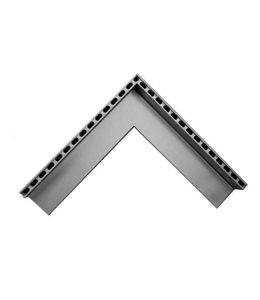 Diederen Aluminium uitwendig hoekstuk SideDrain 40. 500x500mm. H=83mm