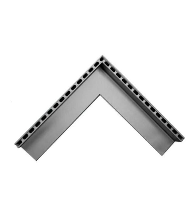 Diederen Aluminium-Außeneckstück SideDrain 40. 500x500mm. H = 83 mm