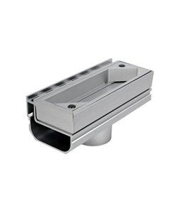 Diederen Aluminium-Inspektionsplatte SideDrain 40, vertikaler Auslass 75mm. LxBxH = 250x110x83mm