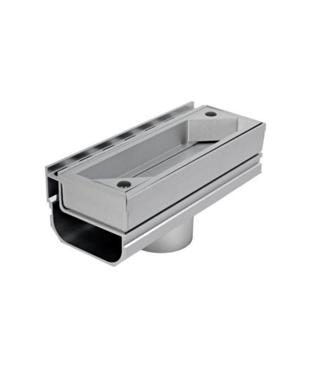 Diederen Aluminium inspectieluik SideDrain 40, verticale uitlaat 75mm. lxbxh=250x110x83mm