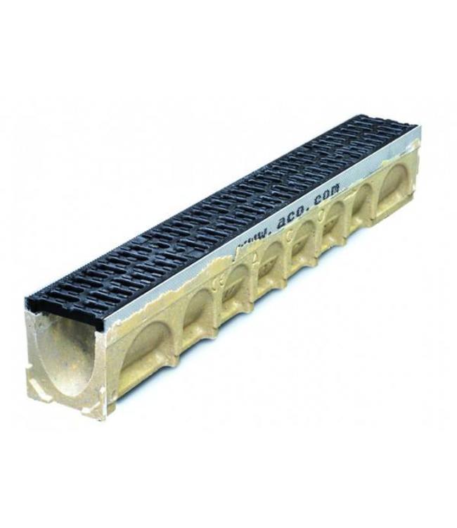 ACO Afvoergoot MultiDrain MD100, lxbxh=1000x135x150mm. Gietijzeren rooster klasse D, 400KN