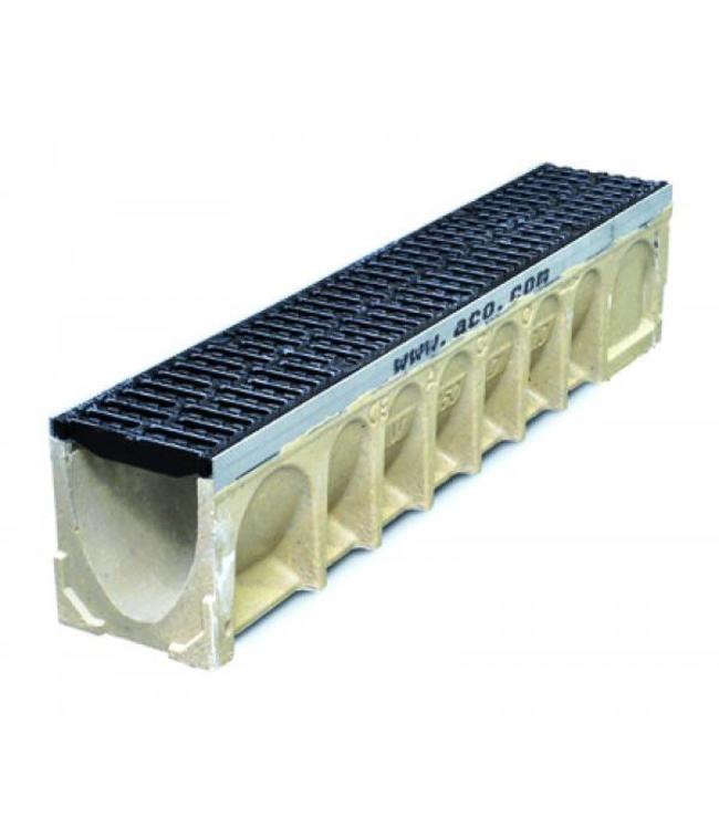 ACO Afvoergoot MultiDrain MD150, lxbxh=1000x185x210mm. Gietijzeren rooster klasse D, 400KN