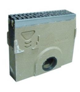 ACO Zandvanger MultiDrain MD100, lxbxh=500x135x450mm. Gietijzeren rooster klasse D, 400KN