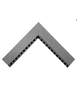 Diederen Aluminium inwendig hoekstuk SideDrain 75. 500x500mm. H=130mm