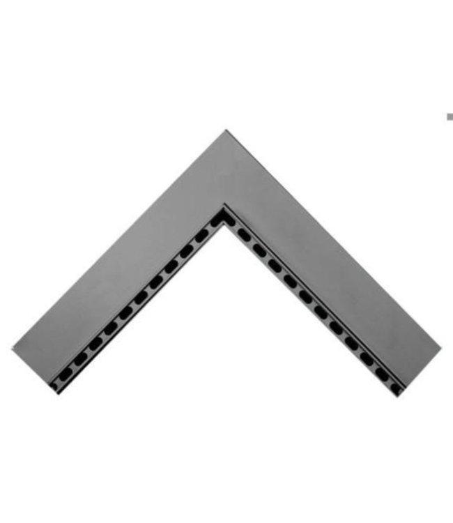 Diederen Aluminium-Inneneckstück SideDrain. bxh = 500 x 500 mm. H = 130 mm