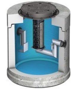 ACO Coalescentieafscheider met slibvangput Oleopator 1.5. Capaciteit 1,5l/s, slibvang 300l, klasse D
