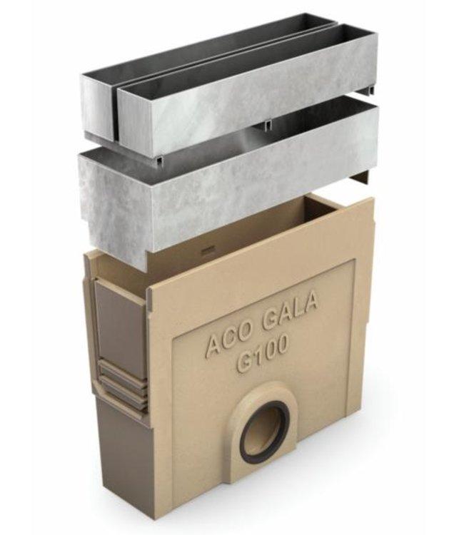 ACO Vuilvanger G100, lang model, aansluiting 110mm. lxbxh=500x130x600mm