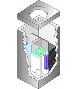 ACO Lamellenafscheider Crossflow 12 met debietbegrenzer, capaciteit 12l/s, max. oppervlakte 8571m2