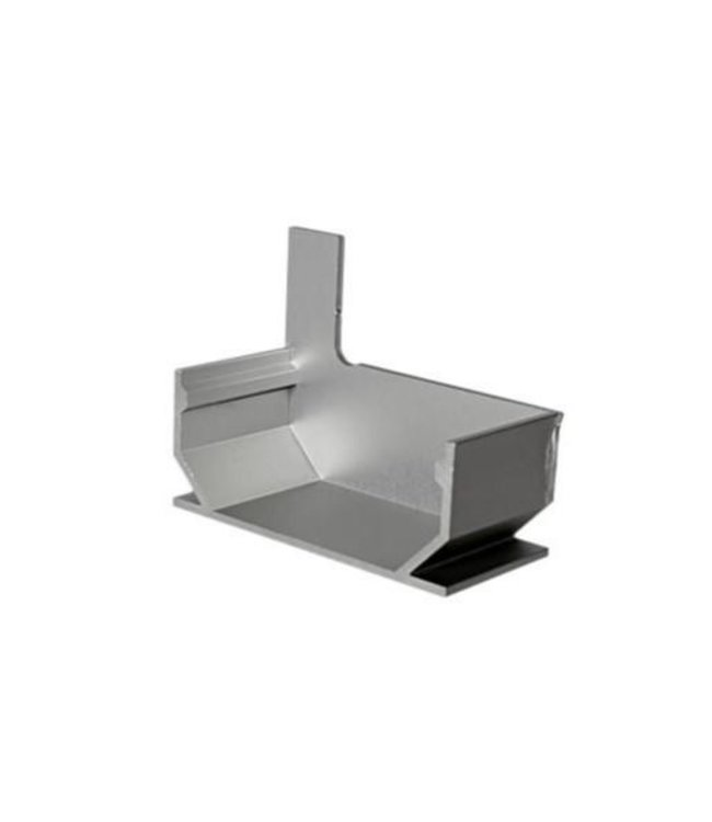Diederen Aluminium Endplatte schließen SideDrain 40 rechts. bxh = 110 x 83 mm