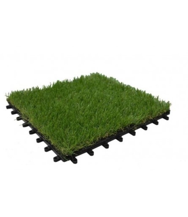 Diederen PP artificial grass tile including artificial grass 30x30x2.5 cm. Water permeable