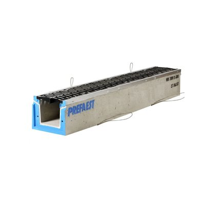 Stradal self-supporting grate gutter HRI 250