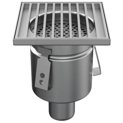 Stainless steel one-piece MINI drain WM150, 150x150mm