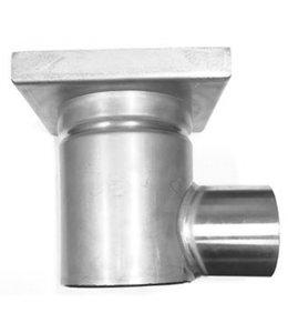 RVS eendelige afvoerput WM150 met betegelbaar deksel, zijafvoer 75mm