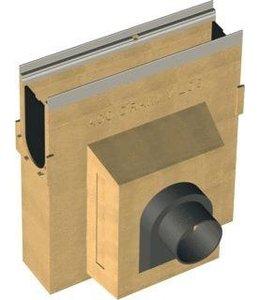 ACO Zandvanger Multiline V100S, 125mm spie. l=0,5m. Verzinktstaal randprofiel
