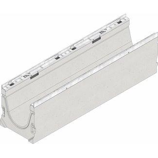 Hauraton Ablaufrinne FASERFIX KS 200 Typ 01, l = 1m, verzinkter Stahlkante Profil
