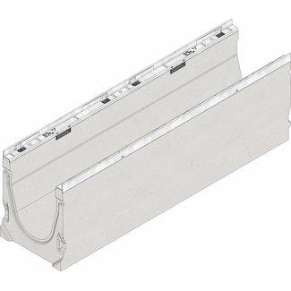 Hauraton Ablaufrinne FASERFIX KS 200 Typ 010, l = 1 m, verzinkte Stahlkantenprofil
