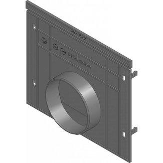 Hauraton Eindplaat dicht Recyfix Pro 200 type 010 + uitloopmogelijkheid 110mm