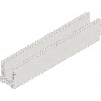 Hauraton Abflussrinne Faserfix Standard E 100 Typ 010L. LxBxH = 1000x162x194mm, Bodenablauf 110mm