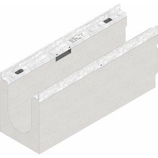 Hauraton Ablaufrinne FASERFIX KS 01005 100 Typ, l = 0,5m, verzinkter Stahlkante Profil