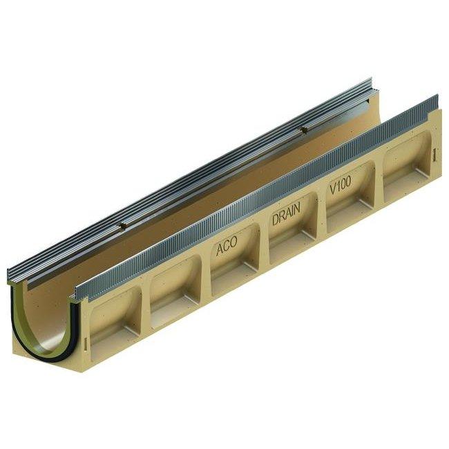 ACO Afvoergoot Multiline Sealin V100S 0.0, lxbxh=1000x135x150mm, verzinktstaal randprofiel