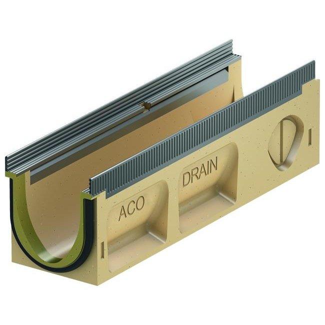 ACO Drainage gutter Multiline Sealin V100S 0.1, lxwxh = 500x135x150mm, galvanized steel edge profile