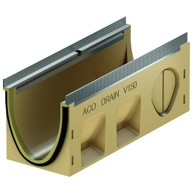 ACO Afvoergoot Multiline Sealin V150S 0.1, lxbxh=500x185x210mm, verzinktstaal randprofiel