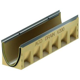 ACO Entwässerungsrinne Multiline Sealin V200S 0.0, LxBxH = 1000x235x265mm, Randprofil aus verzinktem Stahl
