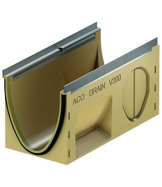 ACO Entwässerungsrinne Multiline Sealin V200S 0.1, LxBxH = 500x235x265mm, Randprofil aus verzinktem Stahl