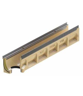 ACO Entwässerungsrinne Multiline Sealin V200S 0.0.2, LxBxH = 1000x235x275mm, Randprofil aus verzinktem Stahl
