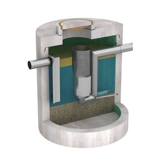 Tubobel Aqua Olieafscheider Diederen Multistage 10. Capaciteit 10l/s, klasse D, 400KN