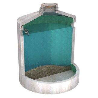 Tubobel Aqua Slibvangput Diederen type 10000. Slibvang 9.860l. Aansluiting DN300, klasse D, 400KN