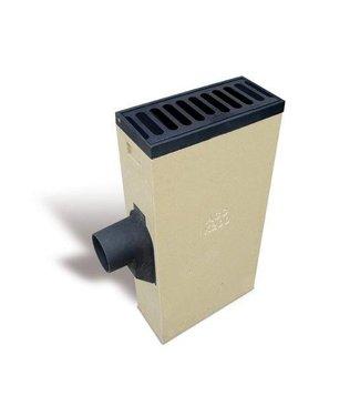 ACO Linienwirbel Multipoint K200LR. Schlüssel 125mm rechts, Retro Gitter flach, h = 1035mm
