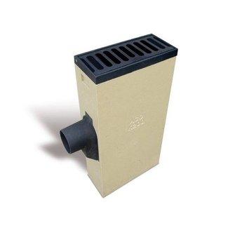 ACO Vortex Multipoint K200R. Schlüssel 125mm rechts, Retro Gitter flach, h = 830mm