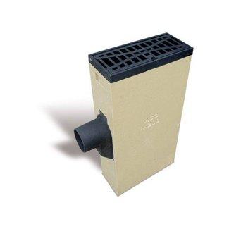 ACO Vortex Multipoint K200L. Schlüssel 160 mm links, Gitter flach reinigen, h = 830 mm