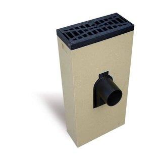 ACO Leitungsgewölbe Multipoint K200KV. Schlüssel 160 mm vorne, Gitter flach reinigen, h = 535 mm
