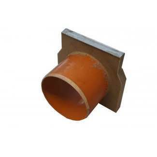 ACO Aco Endplatte offen G100. Kantenprofil aus verzinktem Stahl, Ablauf 110 mm