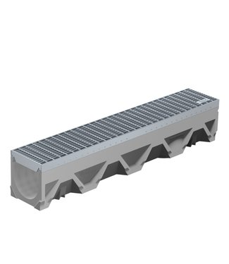 Lineare Dachrinne Filcoten Tec V150/0. L=1m. Klasse C, 250KN