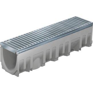BG Graspointner Roostergoot BG-FILCOTEN® Pro E200/0. L=1m. Klasse E, 600KN. Onderafvoer 200mm