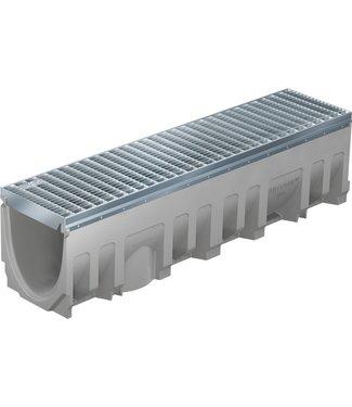 Roostergoot BG-FILCOTEN® Pro E200/0. L=1m. Klasse E, 600KN. Onderafvoer 200mm