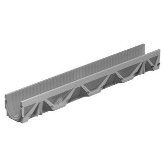 BG Graspointner Slotted gutter BG-FILCOTEN® Light 100/0. L = 1m. Class C, 250KN. Bottom outlet 110mm