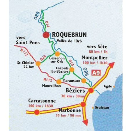 Cave de Roquebrun Col de l'Orb Blanc   1-fach Weingeschenk