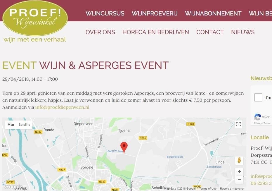 Proef!Wijnwinkel organiseert 'Wijn en asperges' proeverij