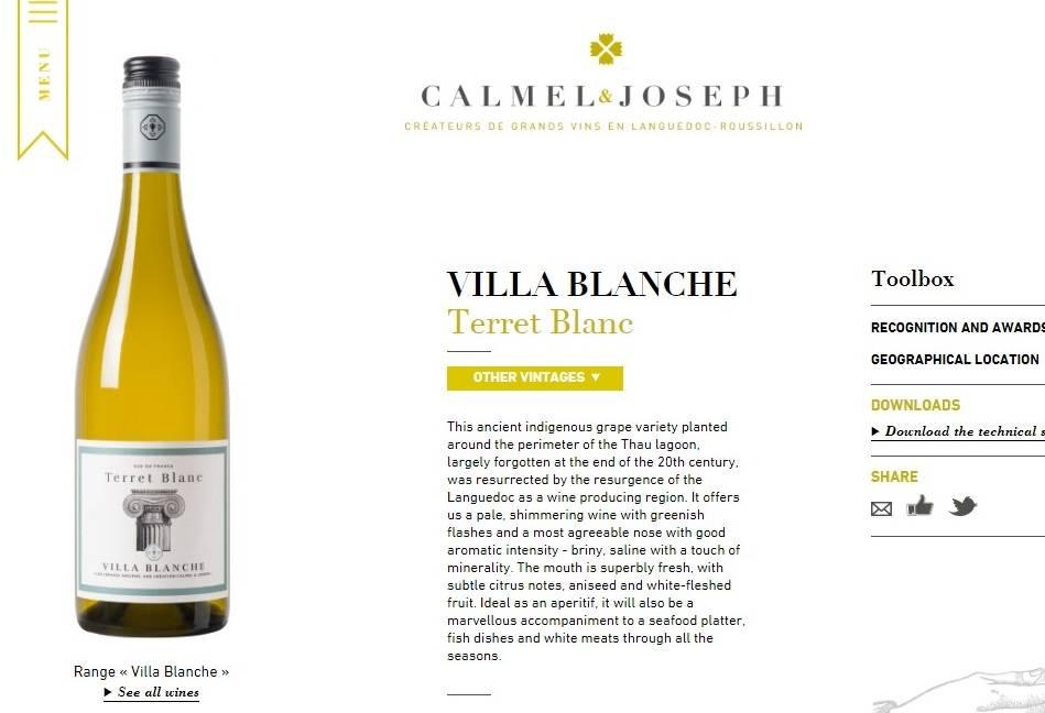 Villa Blanche Terret Blanc nieuw in Vinox assortiment