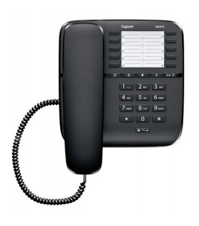 Gigaset DA510 desk phone without display, caller ID and handsfree Black DEMO